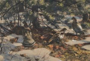Aiden Lassell Ripley American 18961969 Grouse in Winter
