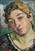 David Burliuk Ukrainian 18821967 Portrait of a Woman
