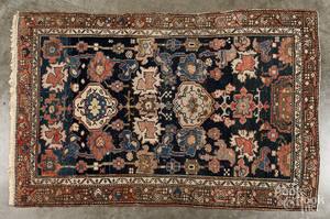 Two Persian throw rugs