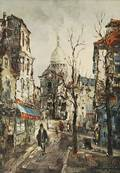 Christophe Charpides French 19021992 Montmartre View