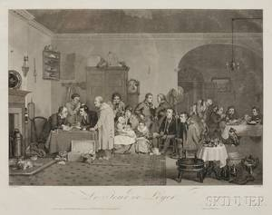 JeanPierreMarie Jazet French 17881871 After Sir David Wilkie British 1785 1841 Two Prints Le Jour de Loyer