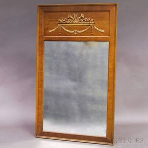 Neoclassicalstyle Walnut Mirror