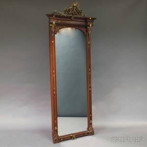 Victorian Renaissance Revival Mahogany Pier Mirror