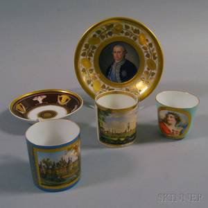 Five Pieces of Continental Porcelain