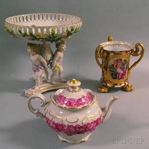 Three Pieces of Continental Porcelain