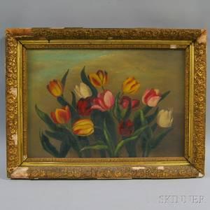 American School 19th20th Century Still Life with Tulips