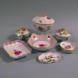 Nine Pieces of Herend Porcelain