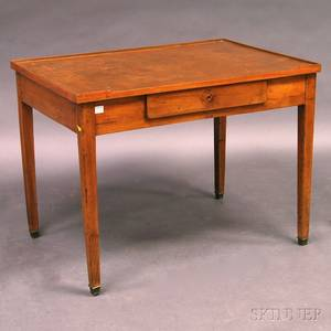 French Provincial Fruitwood Leathertop Writing Desk