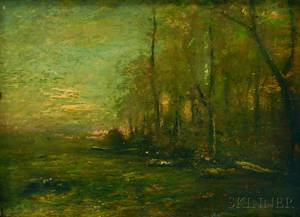 John Francis Murphy American 18531921 Woods at Twilight