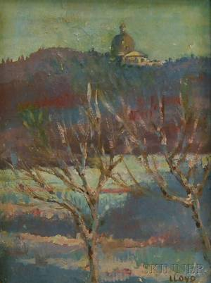 American School 20th Century Winter Landscape