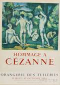 After Paul Czanne French 18391906 Hommage a Czanne Exhibition Poster