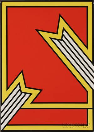 Nicholas Krushenick American 19291999 NEW YORK COUNCIL ON THE ARTS NEW YORK STATE AWARD