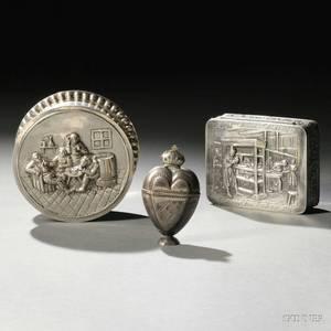 Two Dutch 833 Silver Boxes