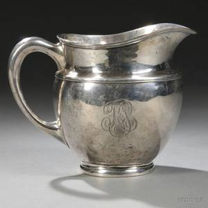 Woolley Arts  Crafts Sterling Silver Pitcher