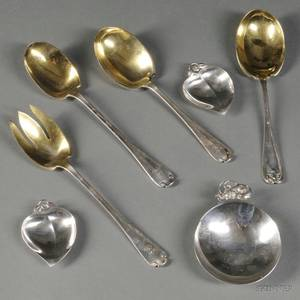 Seven Pieces of Tiffany  Co Sterling Silver Tableware