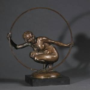Gilbert William Bayes British 18741953 Greek Dancer A Figural Bronze Study