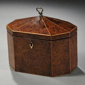 George III Amboynaveneer Tea Caddy