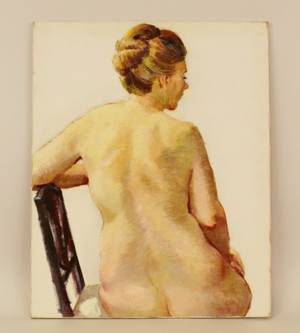 Dorothy Poole Oil on Canvas Female Nude Study