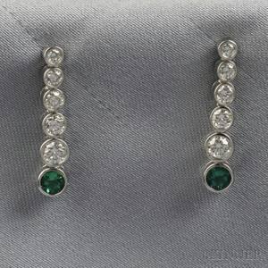 Platinum and Diamond Jazz Earpendants Tiffany  Co