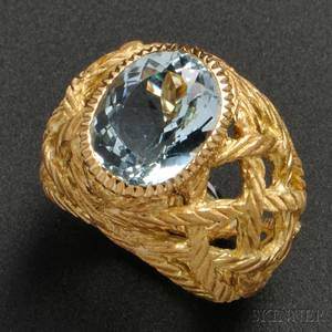 18kt Gold and Aquamarine Ring Buccellati