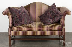 Kittinger Chippendale style mahogany love seat
