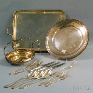 Group of Silverplated Flatware and Tableware