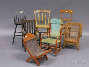 Group of Assorted Mostly Childs Chairs