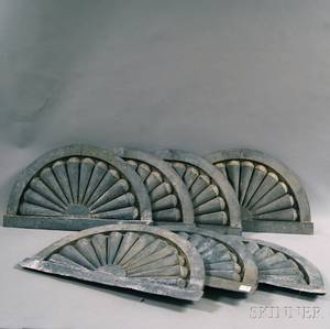 Seven Zinc Demilune Fan Architectural Elements