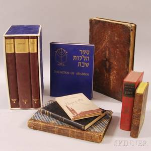 Large Collection of Prayer Books Chumash Commentaries and Judaicthemed Volumes