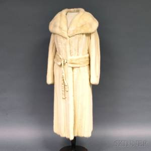 Ben Kahn Fulllength White Mink Coat