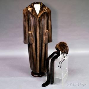 Ben Kahn Fulllength Brown Mink Coat