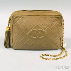 Chanel Olivetone Quilted Lambskin Purse