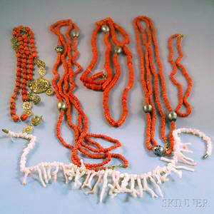 Group of Coral Jewelry