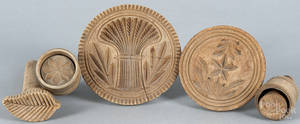 Five carved butter prints