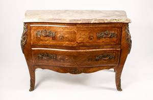 French Louis XV Style Marble Top Commode
