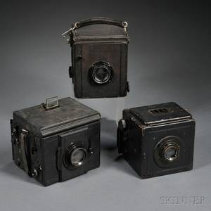 Three German Large Format Reflex Plate Cameras
