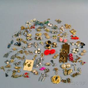 Large Group of Costume Earrings