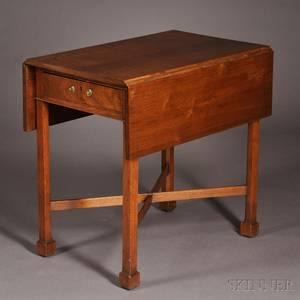 Chippendale Walnut Pembroke Table