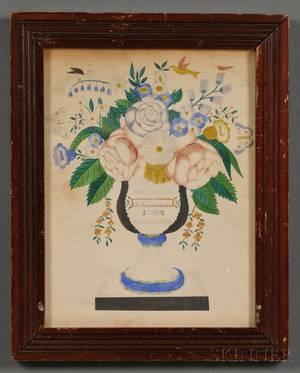 American School 19th Century Theorem of an Urn of Flowers