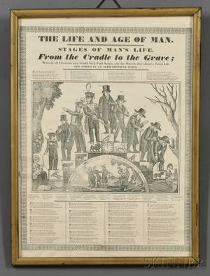 Framed Printed THE LIFE AND AGE OF A MAN Pictorial Print