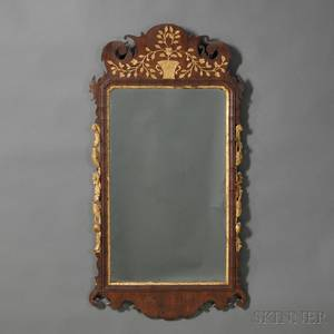 Chippendale Walnut and Giltgesso Mirror
