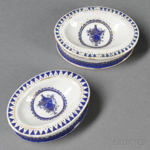 Pair of Chinese Export Porcelain Salts