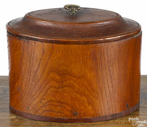 Carved tea caddy from the Treaty Tree at Kensington