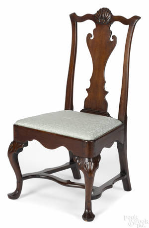 Philadelphia Chippendale mahogany side chair late 18th c