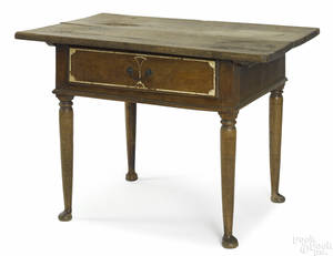 Pennsylvania sulphur inlaid walnut tavern table ca 1760