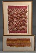 Two Framed PreColumbian Textile Fragments