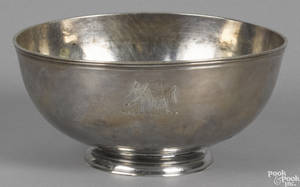Philadelphia silver bowl 18th c