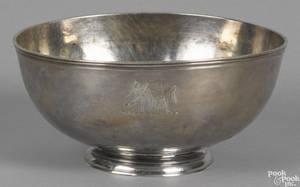Philadelphia silver bowl 18th c