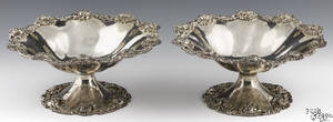 Pair of Dominick and Haff sterling silver compotes