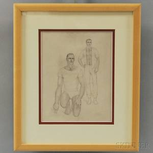 John B Lear Jr American 19102008 Portrait of Two Men